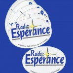 Lot de 12 autocollants Radio Espérance