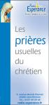 Dépliant «Les prières usuelles du chrétien» (100 exemplaires)