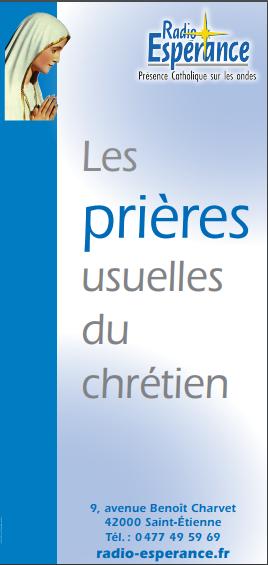 Dépliant « Les prières usuelles du chrétien » (50 exemplaires)